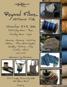 Beyond Fibre... Artisan Sale November 8 & 9, 2014